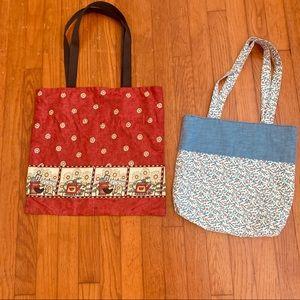 Cotton tote bags, handmade
